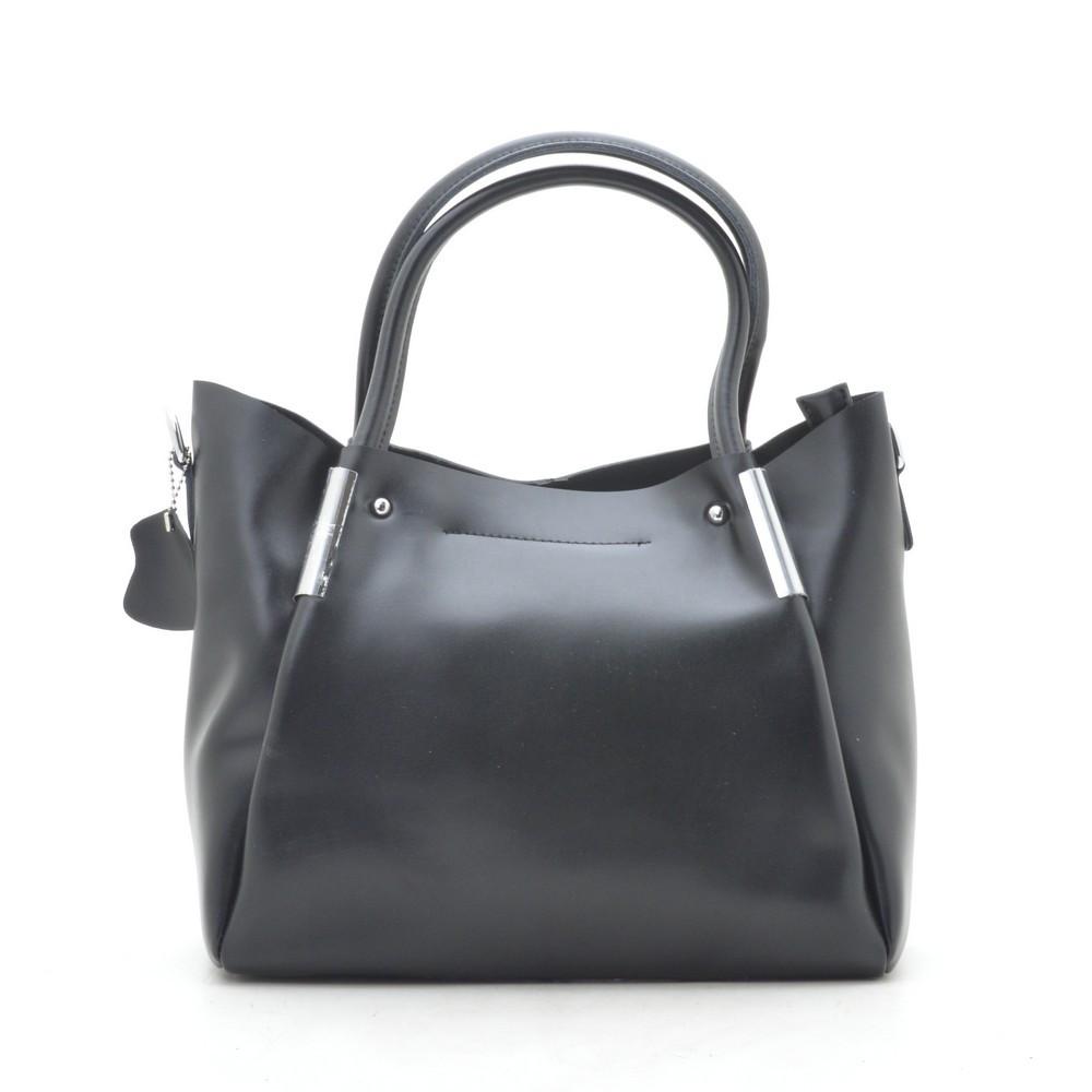 Женская сумка кожаная черная 188145