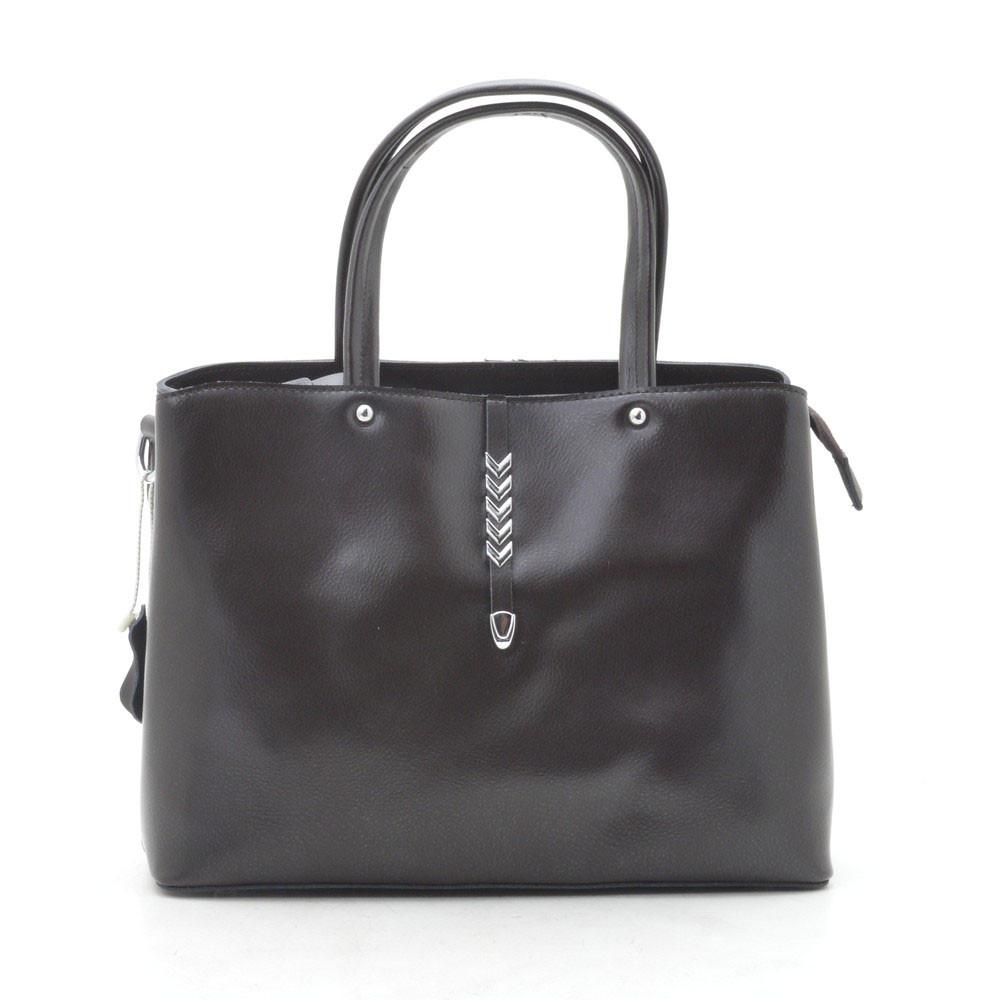 Женская сумка кожаная кофейная 188136