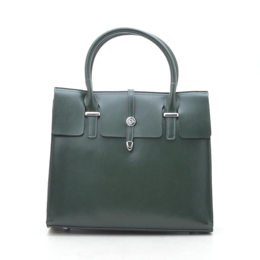 Женская сумка кожаная зеленая 188273