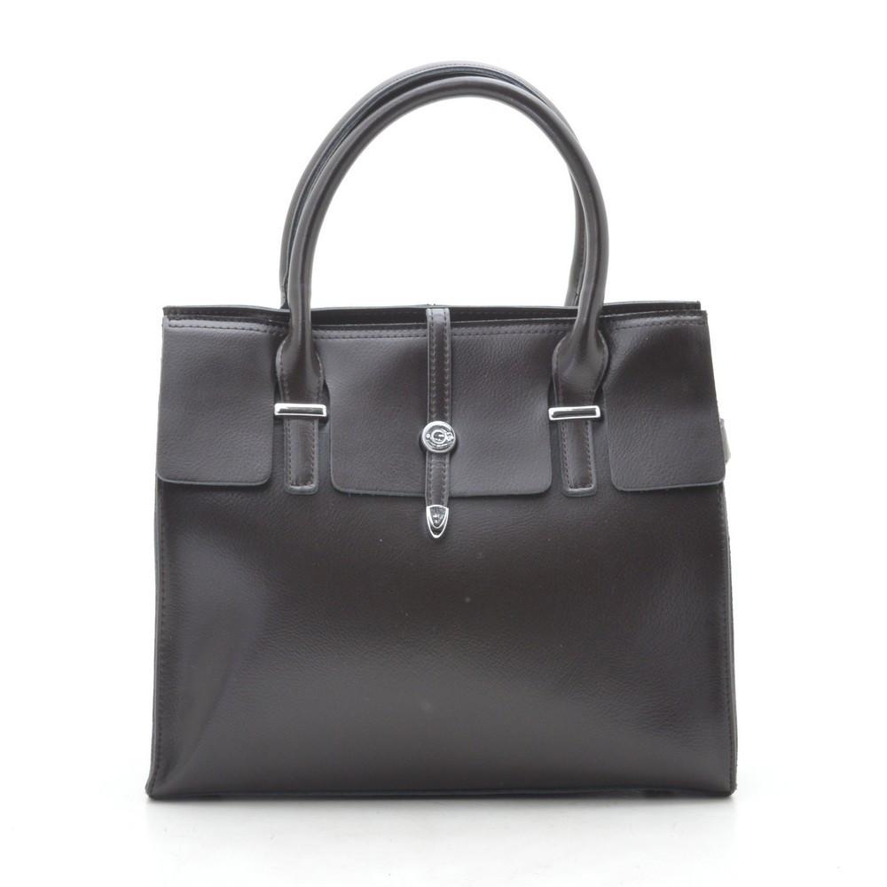 Женская сумка кожаная кофейная 188274
