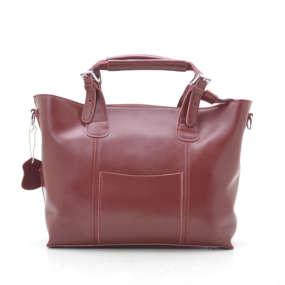 Женская сумка кожаная темно красная 188277