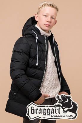 Детская черная зимняя куртка на мальчика Braggart Kids (р. 34, 36, 38) арт. 65028M, фото 2