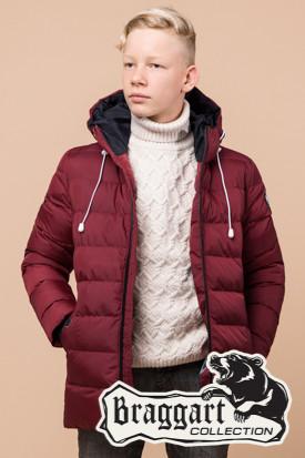 Детская красная зимняя куртка на мальчика Braggart Kids (р. 34, 36, 38) арт. 65028R