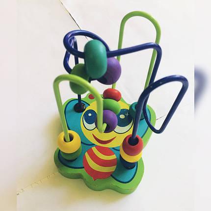 Деревянный пальчиковый мини-лабиринт для  развития мелкой моторики. Развивающие игрушки, фото 2