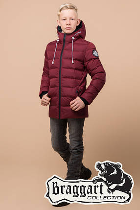 Детская красная зимняя куртка на мальчика Braggart Kids (р. 34, 36, 38) арт. 65028R, фото 2