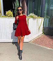 Красное короткое платье на осень 2019