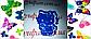 Вырубка с трафаретом Китти Форма для пряника  разм 8 см можно др.размер и  форму, фото 3