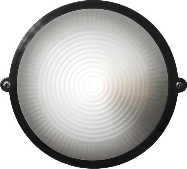 Светильник ЖКХ LED НПП-65 ПС-1002-11-0/1 круг черный опаловый плафон 12W 1200Lm 5700К IP65