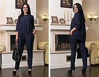 """Брючный женский костюм """"Lídia"""" с асимметричной блузой (большие размеры)"""