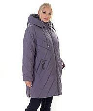 Женский зимний пуховик / куртка синий большихразмеров размер 56 58 60 62 64 66 68 70, фото 3