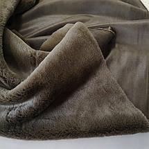 Мех дубляж коричневый (мутон+ замша), фото 3