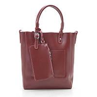 Женская сумка кожаная темно красная 188317, фото 1