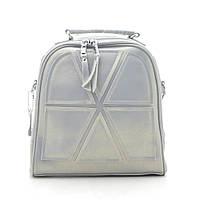 Рюкзак женский кожаный серый 185193