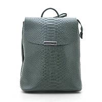 Рюкзак женский кожаный зеленый 185257, фото 1