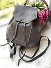 Женский рюкзак серого цвета из эко кожи, фото 4