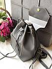 Женский рюкзак серого цвета из эко кожи, фото 5