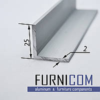 Уголок алюминиевый 25х25х2 / AS