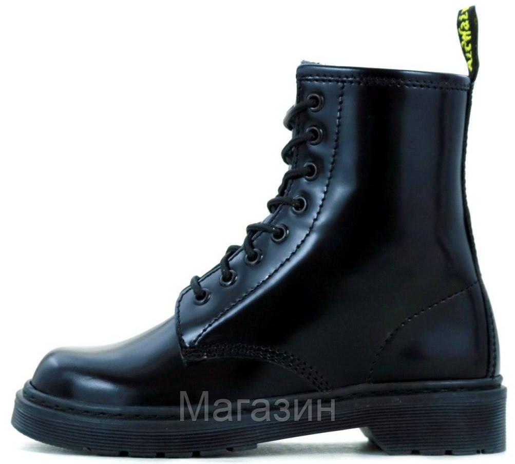 Женские ботинки Dr. Martens 1460 Black Доктор Мартинс черные БЕЗ МЕХА