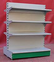 Торговые островные (двухсторонние) стеллажи «Модерн» 130х95 см., серый, Б/у, фото 1