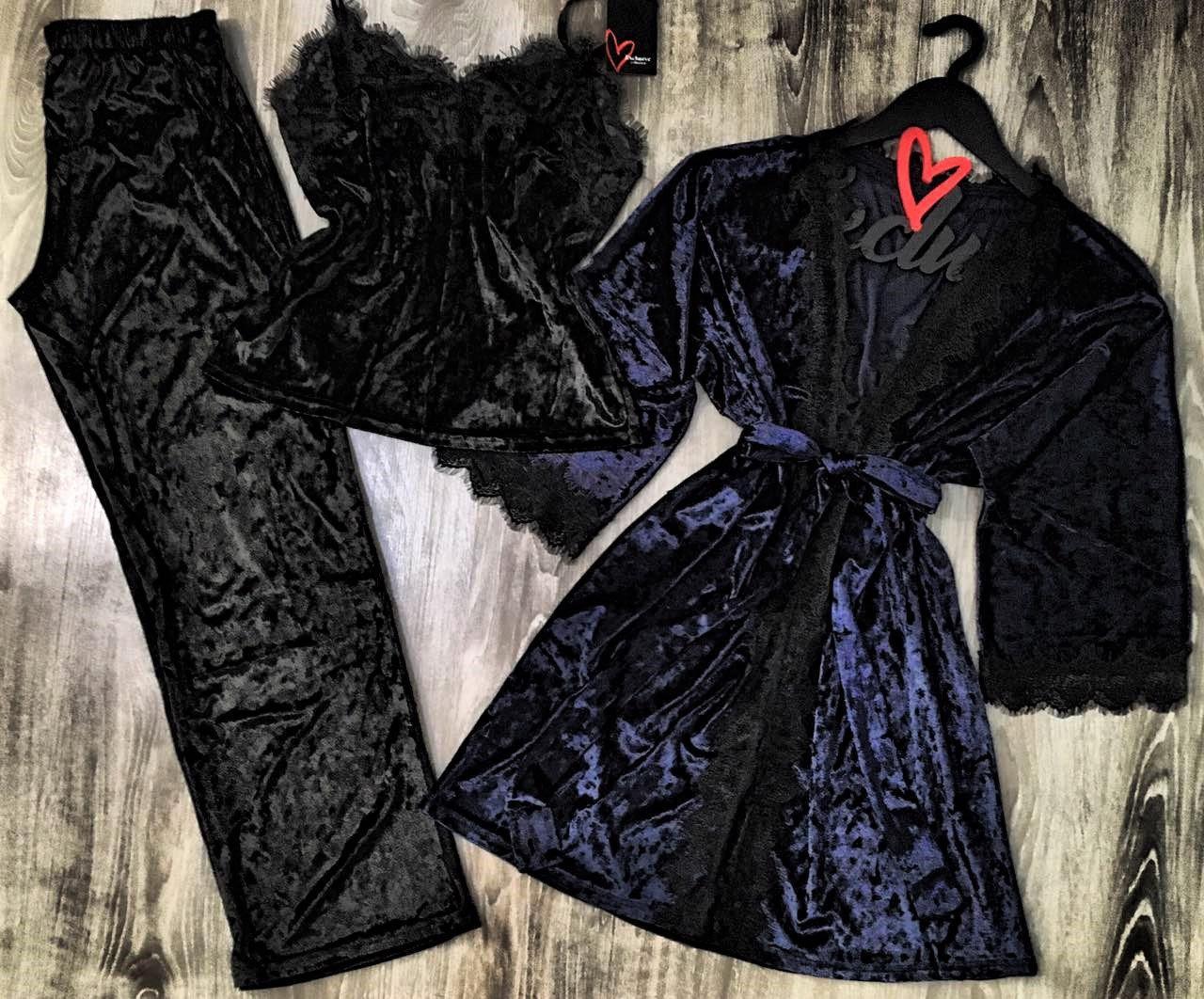 Халат+піжама (майка і штани) набір одягу для