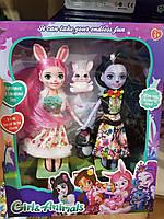 Куколки Enchantimals,Куклы Энчантималс с животным TM332-1A/2A