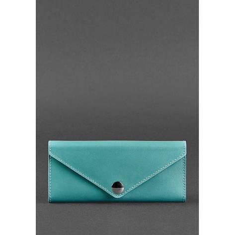Женский кожаный кошелек Керри 1.0 бирюзовый, фото 2