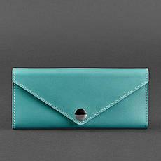 Женский кожаный кошелек Керри 1.0 бирюзовый, фото 3
