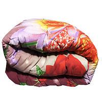 Одеяло Главтекстиль шерстяное 180/210 цветы красные