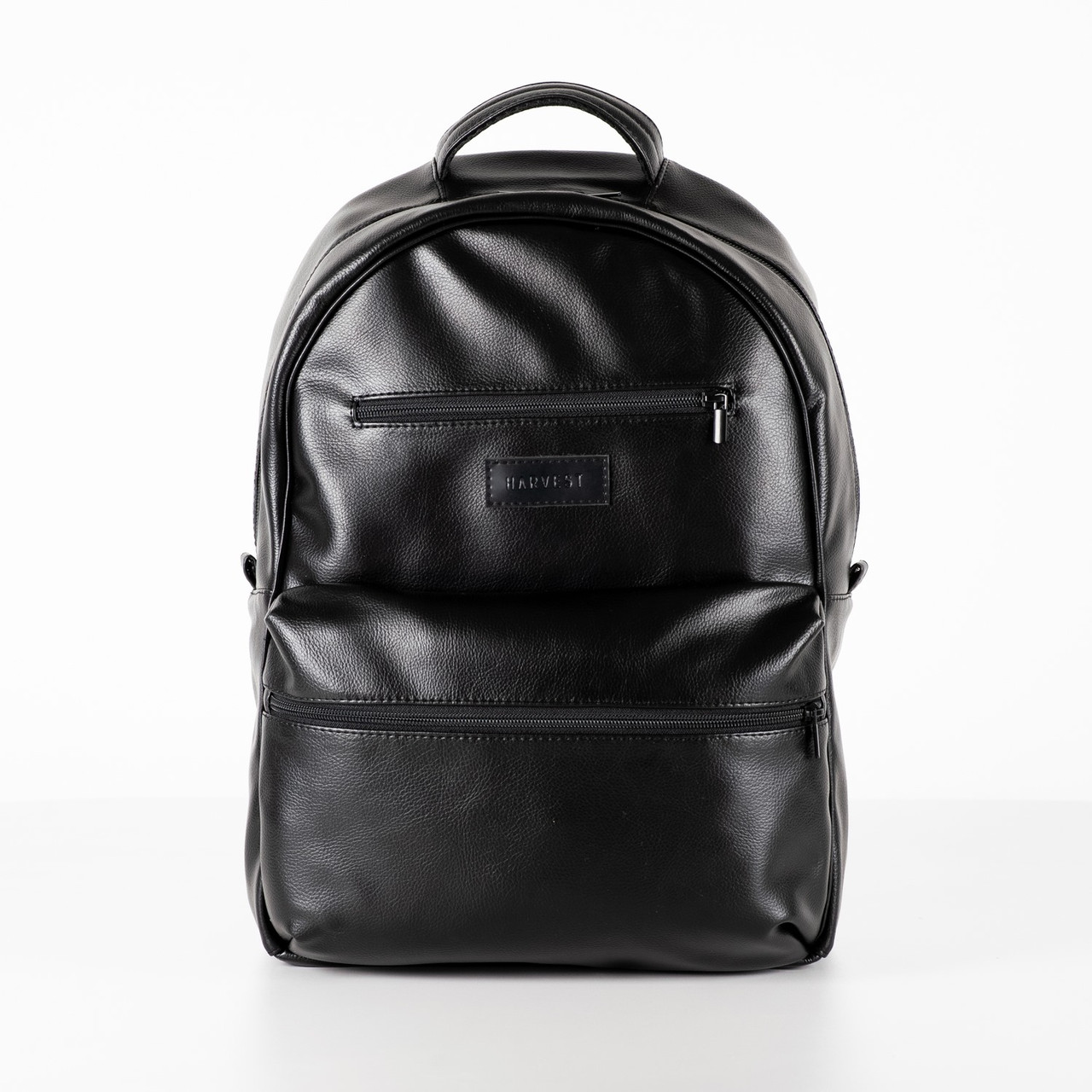 Модний рюкзак HARVEST Tipoleather чорний 44x30x12 см. 17 л. відділення для ноутбука екошкіра