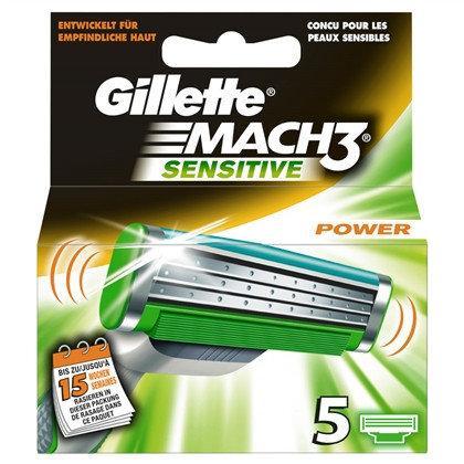 Сменные кассеты Gillette Mach 3 Sensitive (5шт.)