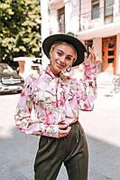 Женская нарядная блуза с цветами