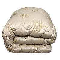 Одеяло Главтекстиль шерстяное Люкс евро 200*210 бежевое