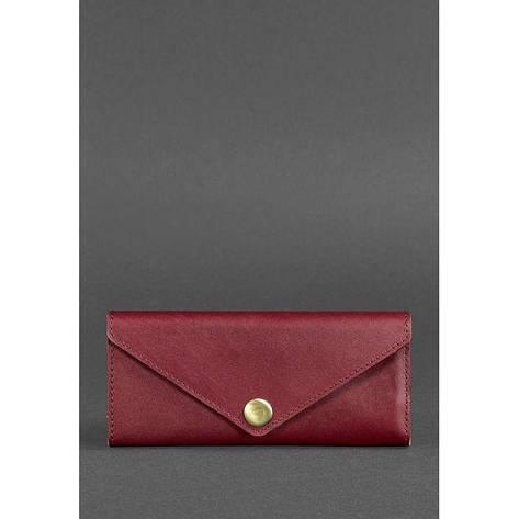 Женский кожаный кошелек Керри 1.0 бордовый Krast, фото 2