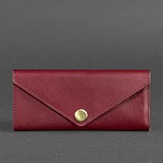 Женский кожаный кошелек Керри 1.0 бордовый Krast, фото 3
