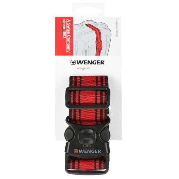 Багажный ремень Wenger Luggage Strap черно-красный (604597)