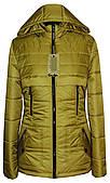 Яскрава гірчична жіноча куртка-парку