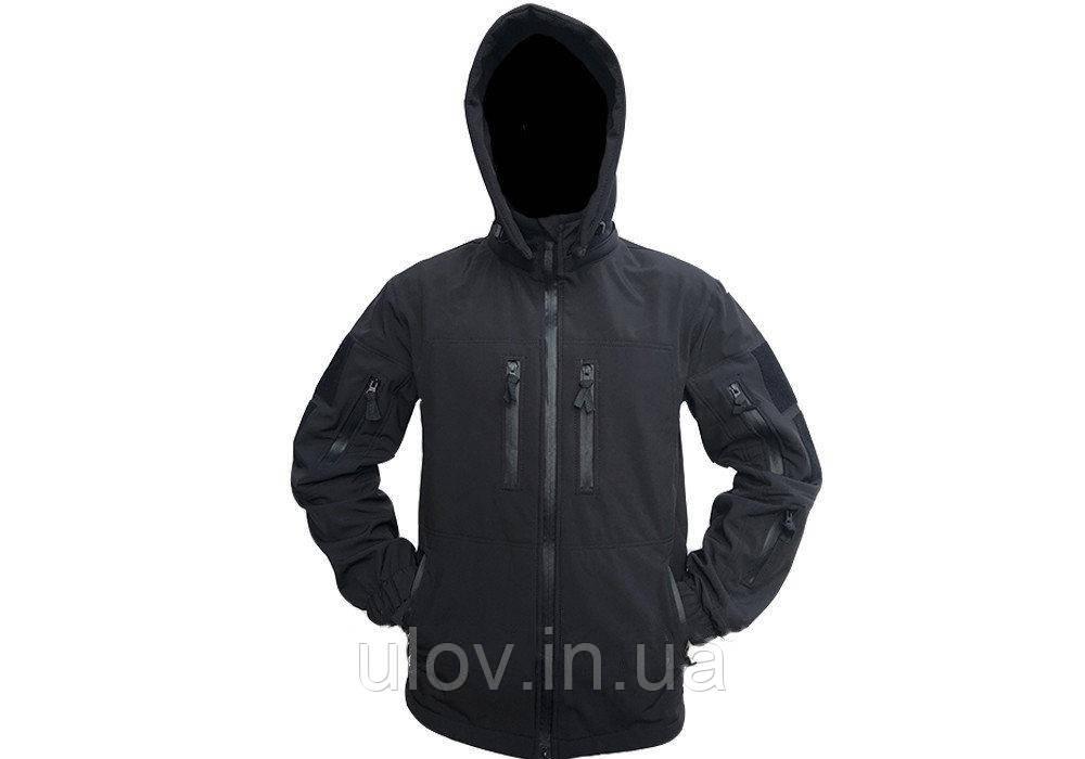 Куртка демисезонная штормовая Soft Shell (черная)