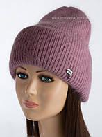 Шерстяная женская шапочка Latte цвет цикламен