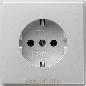 Gira 018865. Розетка с заземляющими контактами TX_44 алюминий