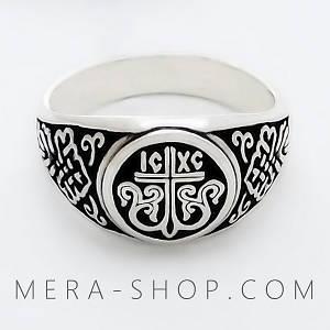 """""""Процветший Крест"""" перстень из серебра 925 пробы"""