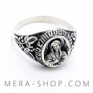 """Серебряный перстень """"Пресвятая Богородица"""""""