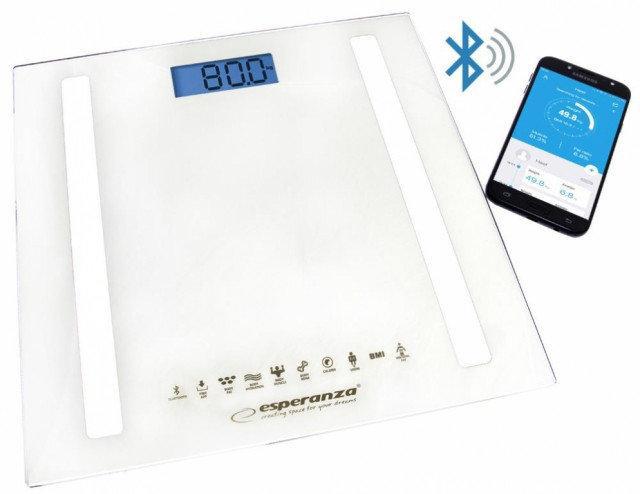 Весы напольные Esperanza EBS016W B.Fit 8in1 white