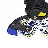 Роликовые коньки Nils Extreme NA1152A Size 31-34 Yellow, фото 9