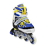 Роликовые коньки Nils Extreme NA1152A Size 31-34 Yellow, фото 10