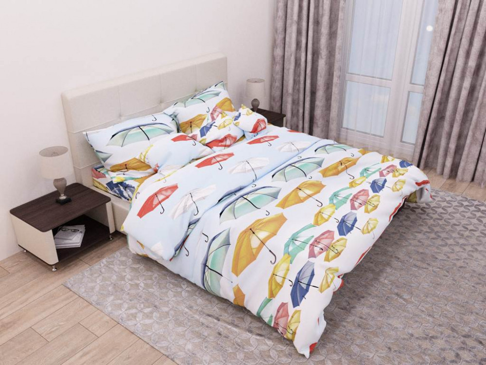 Постельное белье Зонтики бязь ТМ Комфорт-текстиль Евро