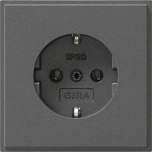 Gira 018867. Розетка с заземляющими контактами TX_44 антрацит