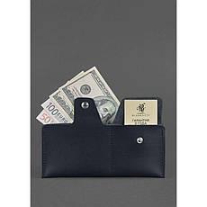 Кожаное портмоне-купюрник 8.0 черное, фото 2