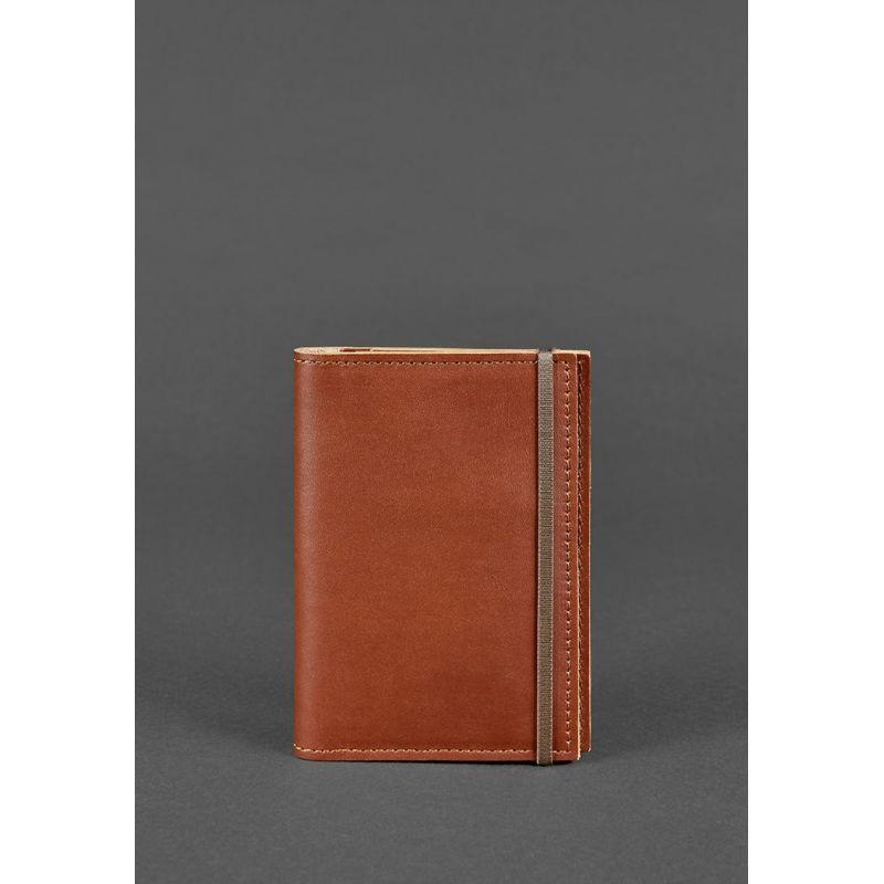 Кожаная обложка для паспорта 2.0 светло-коричневая