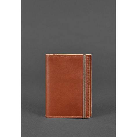 Кожаная обложка для паспорта 2.0 светло-коричневая, фото 2