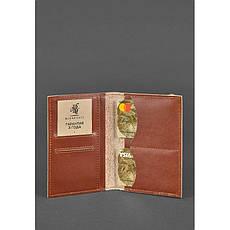 Кожаная обложка для паспорта 2.0 светло-коричневая, фото 3